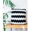 Black and White pillow with zigzag pattern