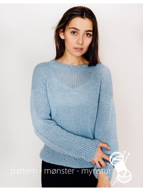 Lyseblå sweater