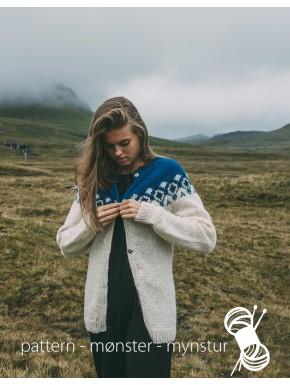 Cardigan við føroyskum mynstri