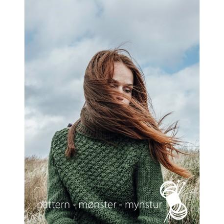 """Grøn sweater med """"Daisy mønster"""""""