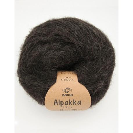 Alpakka mørk brun