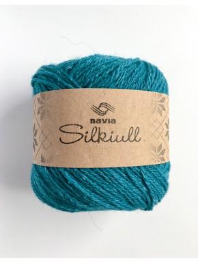 Silk Wool Dark Turquoise