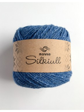 Silk wool Blue