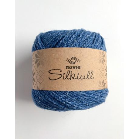 Silke uld Blå