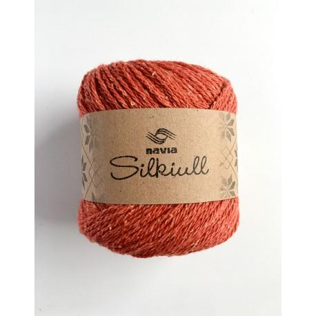 Silke uld Mørk Orange