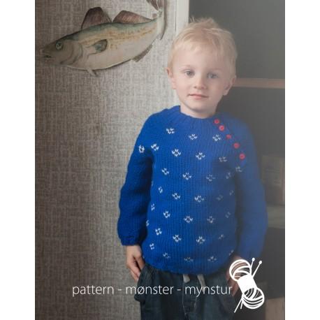 Drengetrøje med mønster