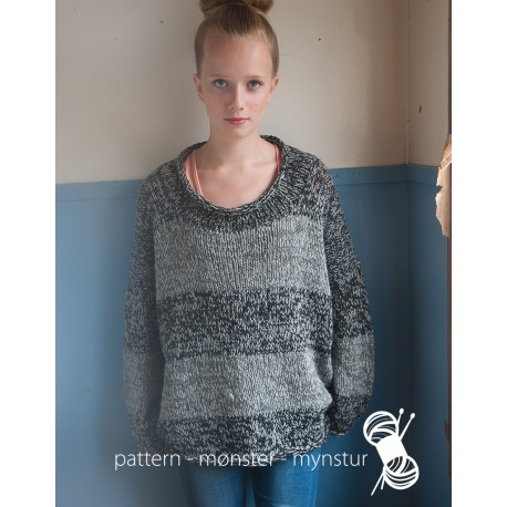 Gråmeleret sweater