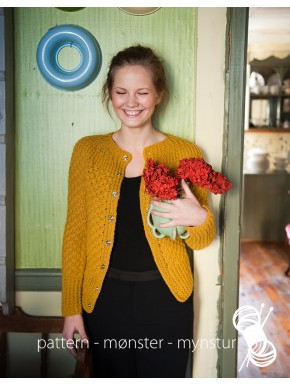 "Cardigan With ""Daisy Pattern"""