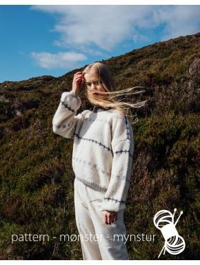Vid sweater med små færøske borter