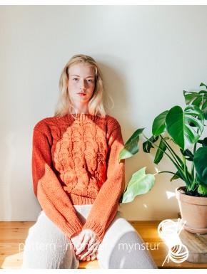 Sweater med bådehals