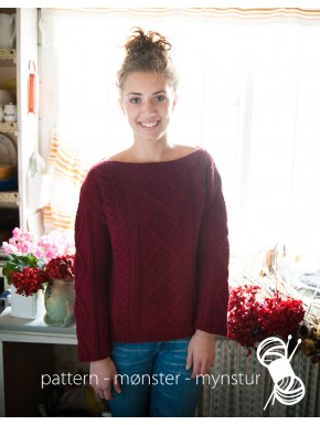 Women Sweater With Aran