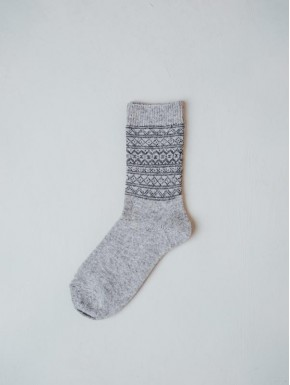 Lightgrey socks with pattern