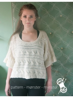 Short Sweater with Aran