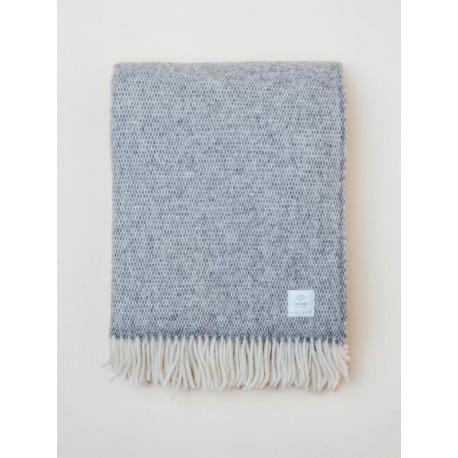 Gray woven blanket