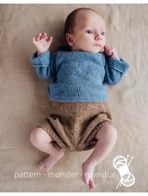 Enkel babytrøje og korte bukser