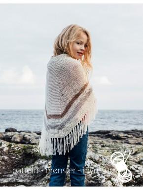 Færøsk sjal med striber