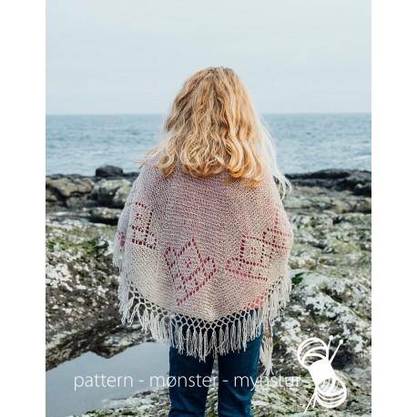 Sjal med færøsk hulmønster