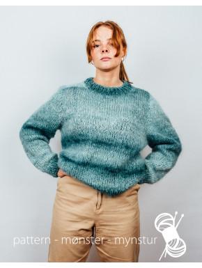 Sweater med skiftende farver