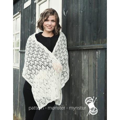 Tørklæde med hulmønster