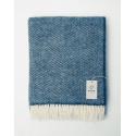 Blue woven blanket