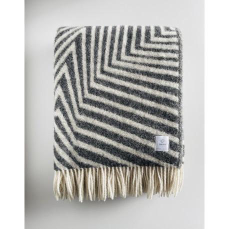 Charcoal Stripe blanket