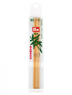 Bamboo Knitting Needles 2,5mm 15 cm