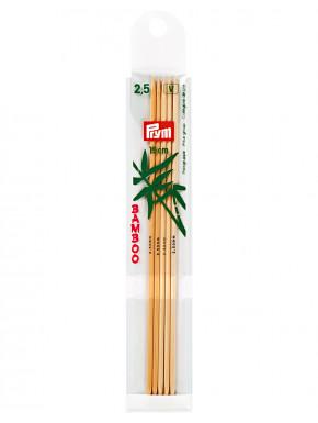 Bambus Strikkepinder 2,5mm 15 cm