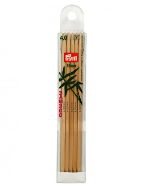 Bamboo Knitting Needles 4mm 15cm