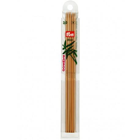 Bambus ermastokkur 3mm 20cm