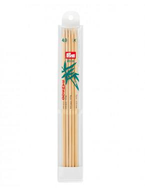Bambus Strikkepinder 4mm 20cm