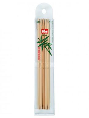 Bambus Strikkepinder 5mm 20cm