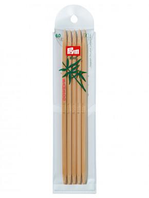 Bambus Strikkepinder 6mm 20cm