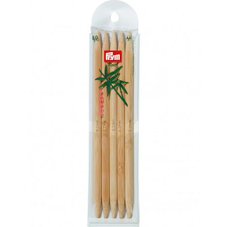 Bamboo Knitting Needles 8mm 20cm
