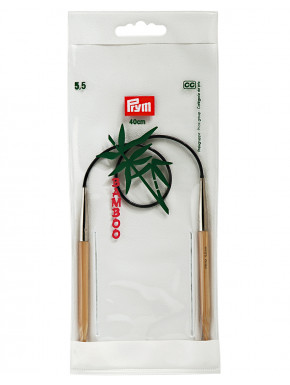 Bambus Strikkepinde 5,5mm 40cm