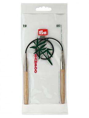 Bambus Rundstokkur 7mm 40cm
