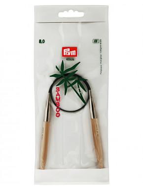 Bambus Strikkepinde 8mm 40cm