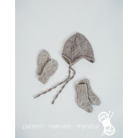 Baby hue, vanter og sokker