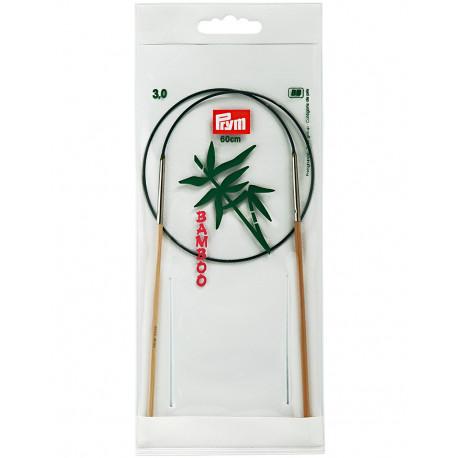Bamboo Circular Knitting Needles 3mm 60cm