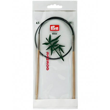 Bamboo Circular Knitting Needles 4,5mm 60cm