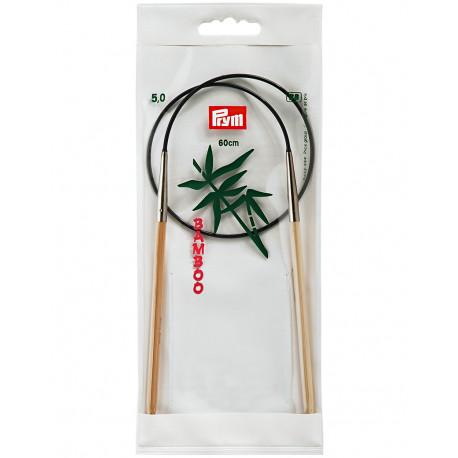 Bamboo Circular Knitting Needles 5mm 60cm
