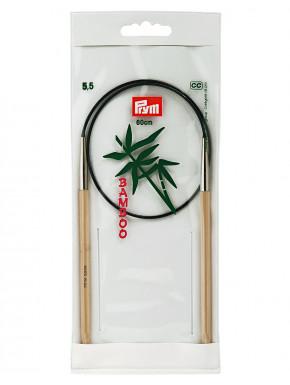 Bambus Strikkepinde 5,5mm 60cm