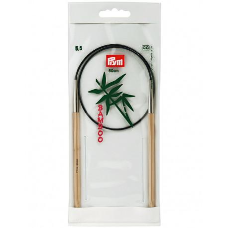 Bamboo Circular Knitting Needles 5,5mm 60cm