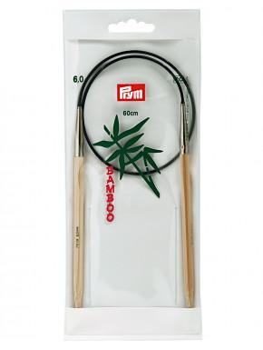 Bambus Strikkepinde 6mm 60cm