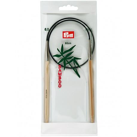 Bamboo Circular Knitting Needles 6mm 60cm