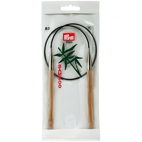 Bamboo Circular Knitting Needles 8mm 60cm