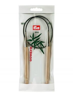 Bambus Strikkepinde 10mm 60cm
