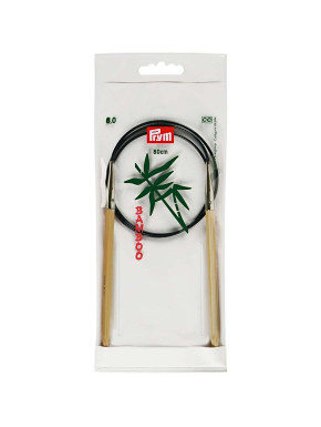 Bamboo Circular Knitting Needles 6mm 80cm