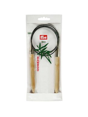 Bambus Strikkepinde 10mm 80cm
