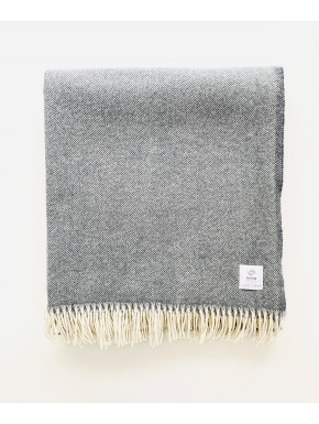 Grey merino blanket