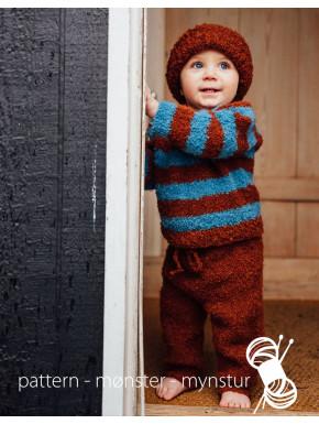 Sweater, bukser og hue